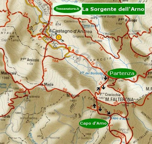 Percorso: Fonte del Borbotto - Capo d'Arno - Fonte del Borbotto
